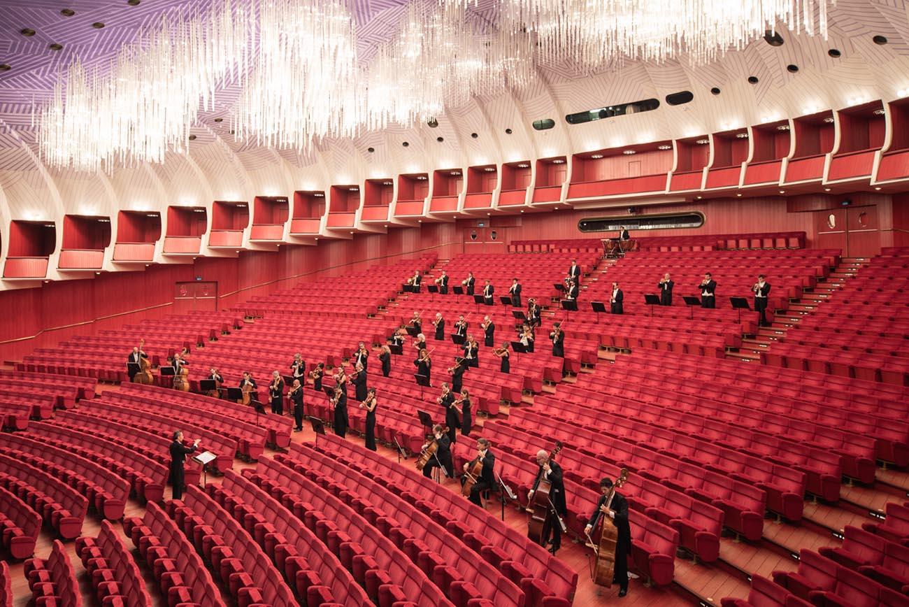 First concert after cov19 lockdown , Teatro Regio. Turin