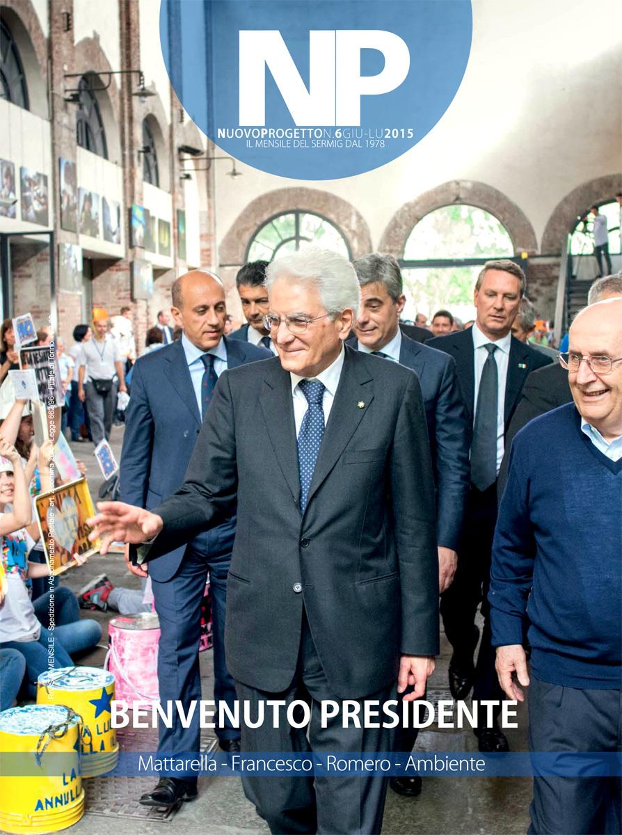 """Copertina della rivista """"Nuovo Progetto"""" Giugno/Luglio 2015"""
