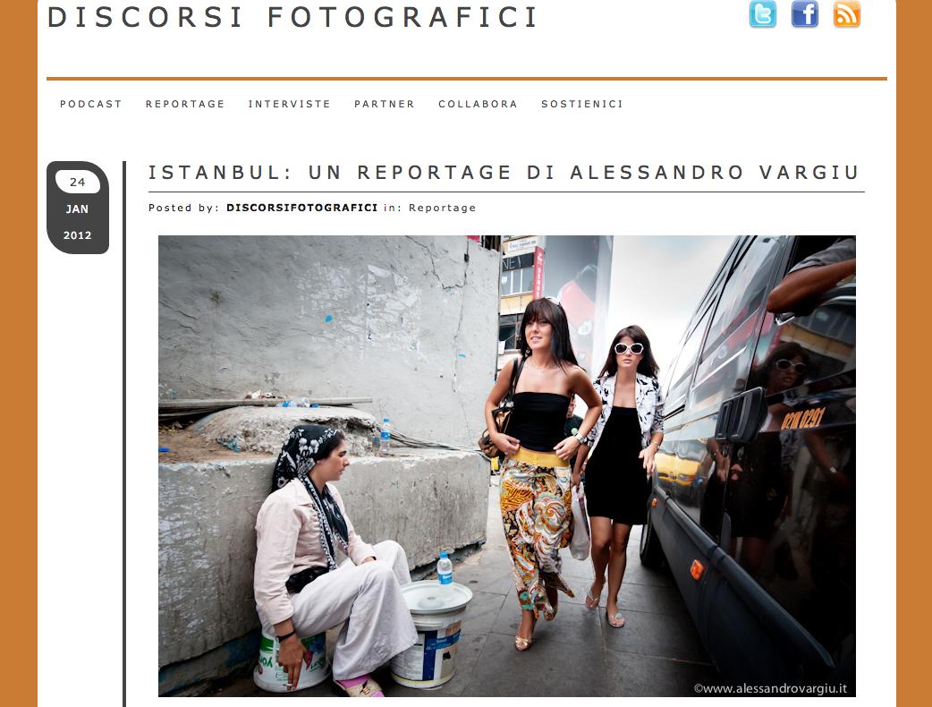 Discorsifotografici.it / Pubblicazione di un reportage su Istanbul